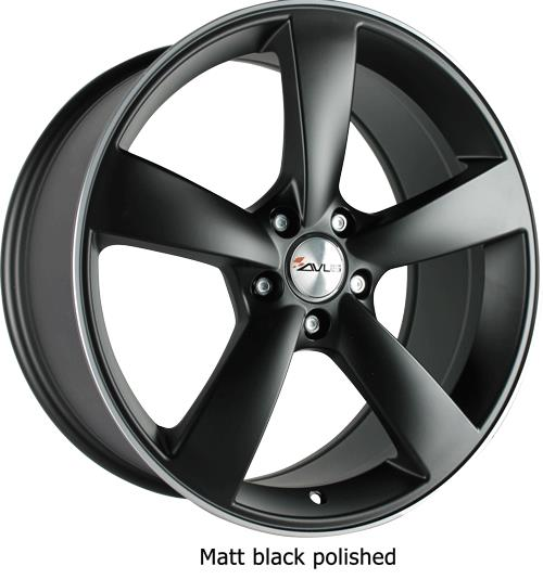 Avus AF10 MATT BLACK POLISHED