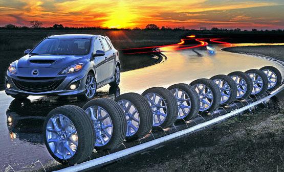 Деcять шин cпортивного типа в размере 225/40R18 (03.2011)
