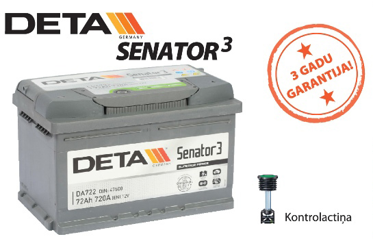 Akumulators Deta Senator 3