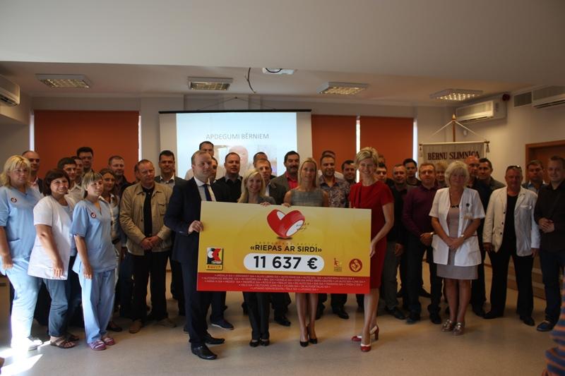 Pirelli Key Point ziedo Bērnu klīniskās universitātes slimnīcai  11 637 Eiro