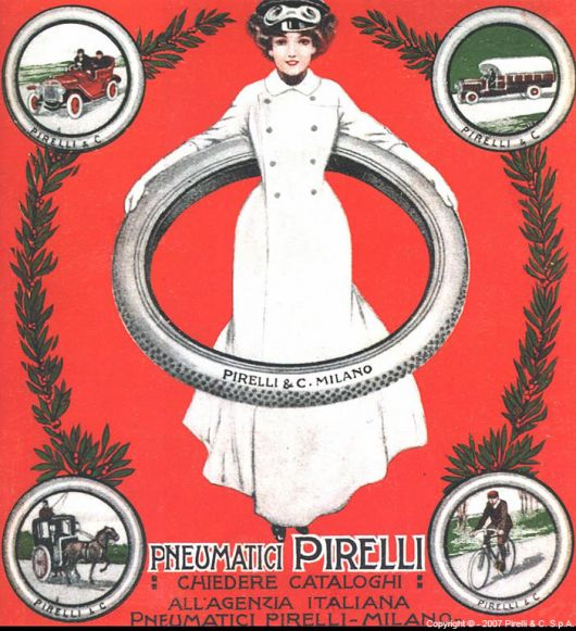 Столетняя история логотипа Pirelli
