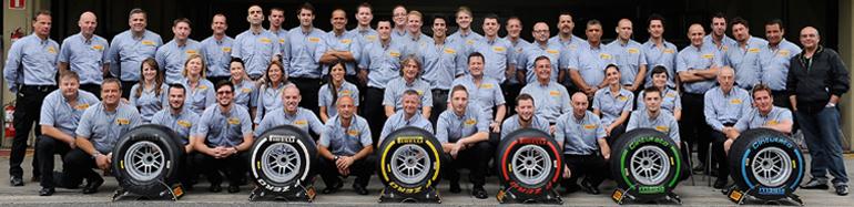 Pirelli darbinieki, kas iesaistīti Formula 1 sacīkstēs