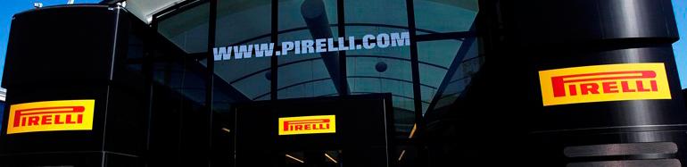 Грузовики и мобильный штаб Pirelli для Формулы 1
