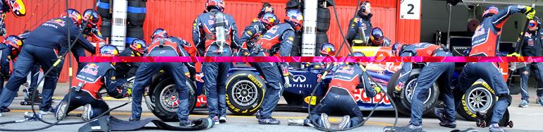 Пит-стопы Формулы-1 2012 года