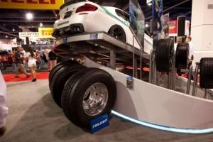 …чтобы уместить еще и грузовые шины Falken