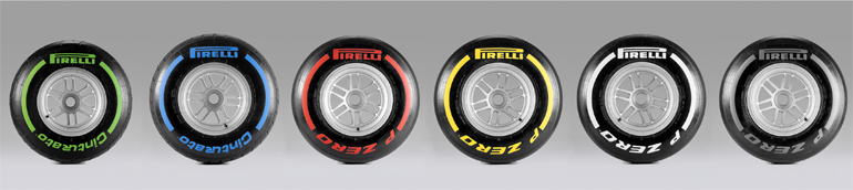 Общее количество использованных шин  Pirelli Формулы 1
